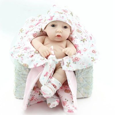 10'' Reborn Baby Girl Doll Lifelike Newborn Full Silicone Vinyl Body Birth Gifts