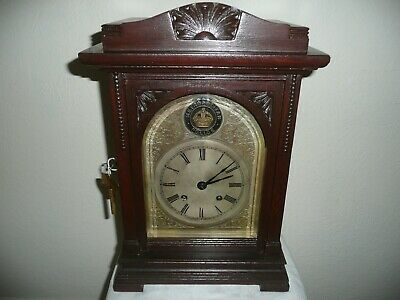 Bracket Clock Bearing Metropolitan Police Badge, Winterhalder & Hofmeier .
