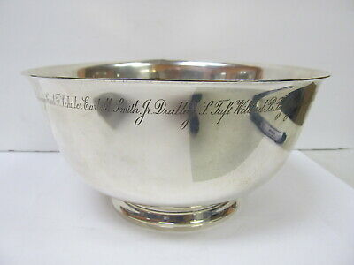 Tiffany & Co Makers Sterling Award Large Bowl # 23618 V Good Cond Names Etched