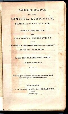 Collectible Book: A Tour Of Turkey & Persia:1840 w/ Map Created From Observation