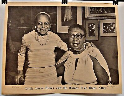 Photo: Beale Street (Memphis) Legends Little Laura Dukes & Ma Rainey:# 85 of 500