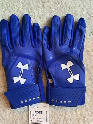 NEW ADULT UNDER ARMOUR UA HEATER BATTING GLOVES 1299540-401 ROYAL SM NWT Small