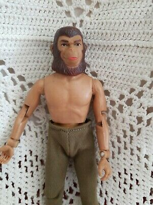 "Vintage Mego Planet of the Apes Cornelius Figure Doll  1971 8"" with green pants"
