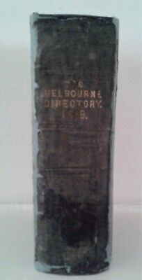 Sands & McDougall's Melbourne and Suburban Directory for 1869 Victoria History