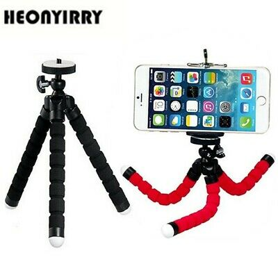 Mini Portable Flexible Sponge Octopus Tripod Stand Mount With Holder For Phone A