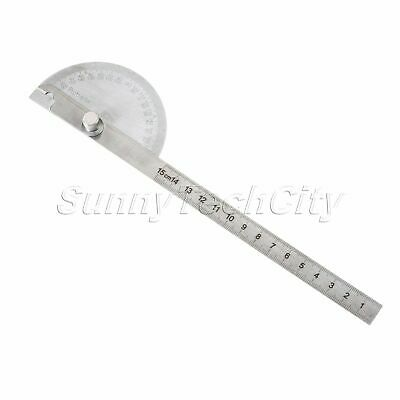Round Angle Finder Ruler 180° Protractor Arm Ruler Stainless Steel Measure Tool
