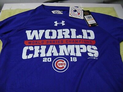 huge selection of 023f5 ed982 UNDER ARMOUR CHICAGO Cubs World Series Champions Shirt Men's ...