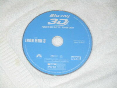 **3D Movie Blu Ray IRON MAN 3 ROBERT DOWNEY JR AVENGERS ORIG MARVEL DISC ONLY