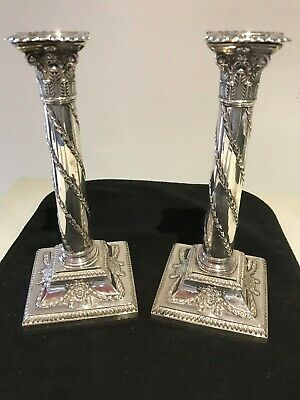 English Sterling Silver George V Candlesticks - Hawkesworth and Eyre (HE Ld)