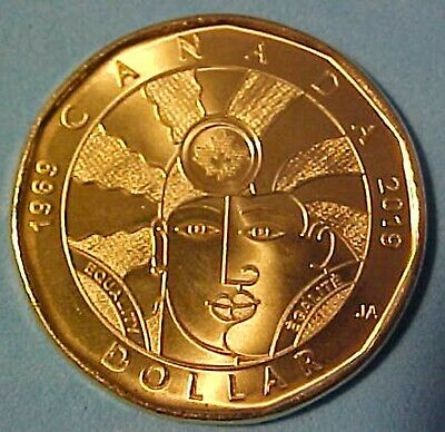 2019 Queen Elizabeth Canadian Equality Loonie $1.00 High Collector Quality