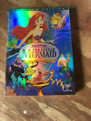 The Little Mermaid (DVD 2-Disc Set Platinum Edition Disney) New, Free Shipping!