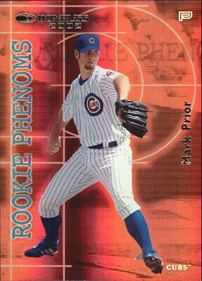 2002 Donruss Rookies Phenoms Chicago Cubs Baseball Card #5 Mark Prior /1000