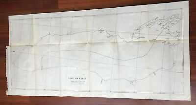 1898 Sketch Map of 1815 Map of Treaty of Ghent Showing Lake Ontario