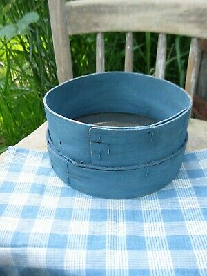 Antique Wood Flour Sifter Cupboard Blue Milk Paint Free Shipping