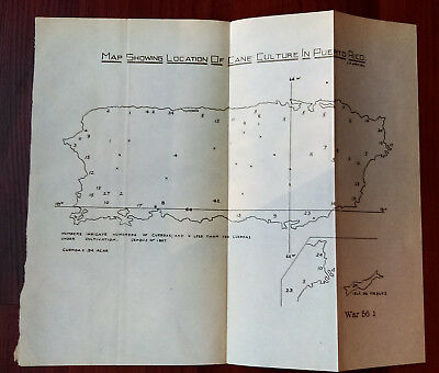 1901 Sketch Map Showing Cane Culture in Puerto Rico