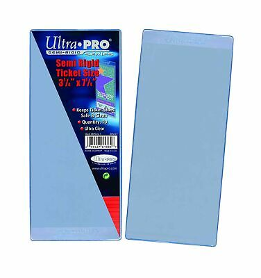 """Ultra Pro Semi Rigid Ticket Holders (50 Count Pack), Clear, 3-1/2"""" X 7-1/1"""""""