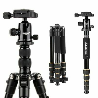 ZOMEI Q666 Professional Tripod Aluminum Travel Monopod Camera Stand&Ball Head Ki