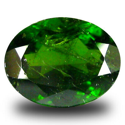 2.37 ct  Premium Oval Shape (9 x 7 mm) Green Chrome Diopside Natural Gemstone