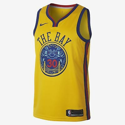 new product 16979 7609a NIKE MEN'S 912101-728 NBA Golden State Warriors Stephen Curry Jersey XL NWT