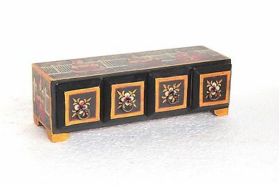 4 Drawer Chest New Antique Handpainted Handicrafts Home Decor Collectible W-6