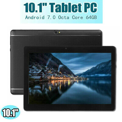 """10.1"""" TABLET PC Android 7.0 Telecamera WIFI HD bluetooth 4G+64GB nero"""