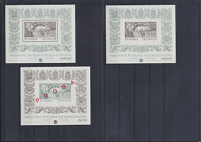 073524 Polen Block 122 A/B + PROBA Stamps Briefmarken ** MNH - Lot Year 1993