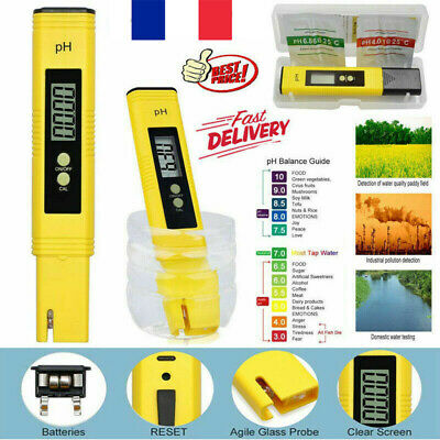 New Digital LCD PH Meter Testeur Aquatique Hydroponique Aquarium Test Pen BK2X*