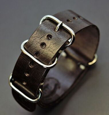 Watch Strap Band Genuine Leather Military OTAN AMO Style 18- 24mm fits panerai