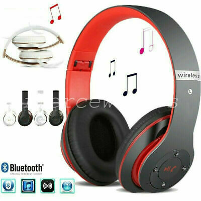 Wireless Headphones Bluetooth Headset Noise Cancelling Over Ear W/ Microphone UK
