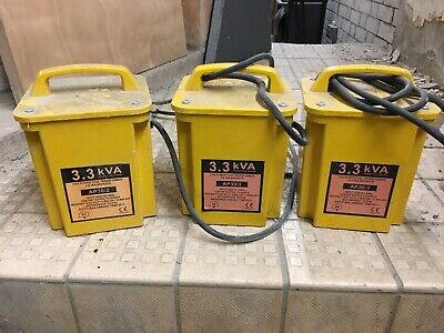 110V isolating transformers - 3.3kVA Twin 16A outlet