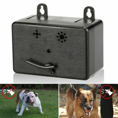 Ultrasonic Stop Control Dogs Pets Barking Anti No Bark Device Silencer Outdoor