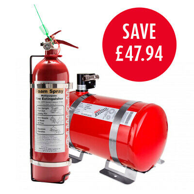 Lifeline Rally Pack 2000 FIA 4 Litre Electric Car Fire Extinguisher 2.4 Handheld