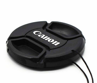 Camera Lens Caps, Snap-on Lens Cap,1 PCS 49mm Front Lens Cap with Cord for Canon