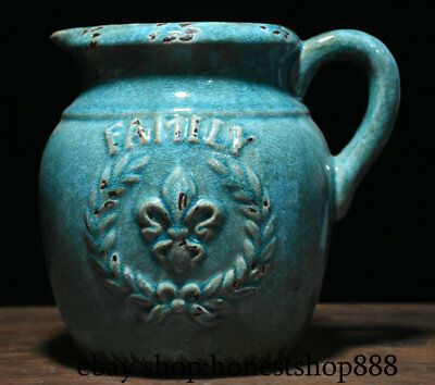 "8"" Collect Chinese Old Blue Glaze Porcelain Dynasty Palace Wine Tea Pot Flagon"