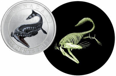 2013 Canadian Glow in the Dark Twenty Five Cent Coin *RCM box and COA*
