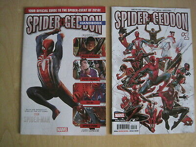 SPIDER GEDDON : issue 1,  2nd PRINT with MOLINA COVER + HANDBOOK. MARVEL. 2019
