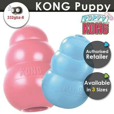 [3 Sizes] KONG Puppy Classic Dog Chew Toy Rubber Stuffing Treats Tough Durable