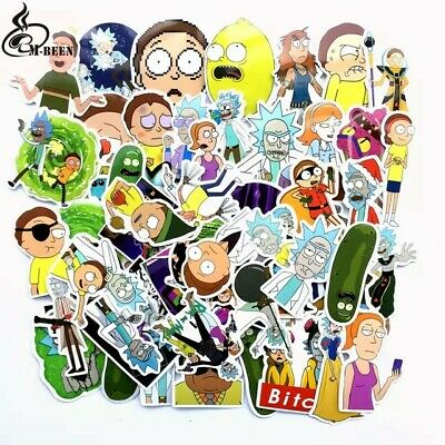 """20 PCS/LOT 2"""" To 3"""" RICK AND MORTY STICKERS Decals, NEW TV Laptop Skateboards"""