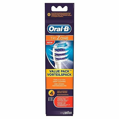 4 Oral-B Braun TriZone Toothbrush Heads 100% Genuine