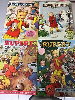 Bundle of 7 Rupert the Bear annuals 1980,81,82,85,86,87,89