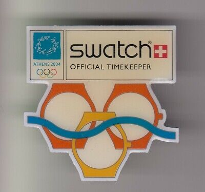 Rare Pins Pin's .. Olympique Olympic Athenes Grece 2004 Montre Watch Swatch ~19