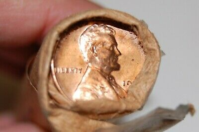 1959-D Lincoln Memorial Cent Penny BU Original Bank Roll Slightly opened