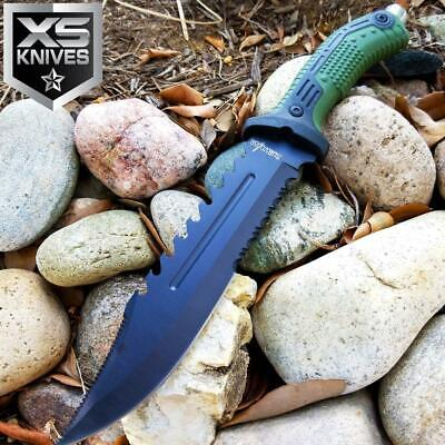 "12"" SURVIVOR TACTICAL MILITARY Hunting FIXED BLADE Knife SURVIVAL ARMY COMBAT"