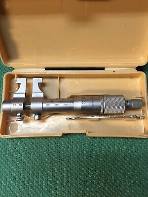 Mitutoyo 25-50mm Inside Micrometer .01mm Resolution 145-186 Carbide Faces