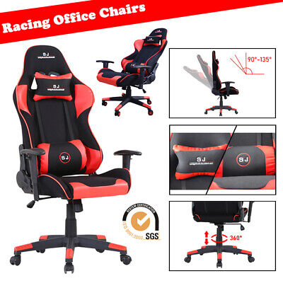 Gaming Racing Office Chairs Executive Swivel Recliner Adjustable Leather Mesh