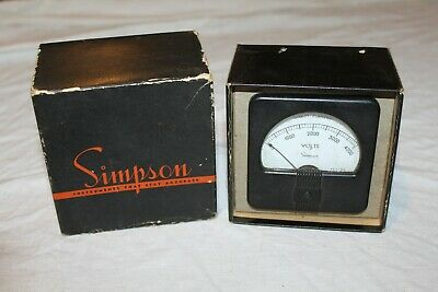 Simpson Instruments Model 27 Direct Current 0-4000 Volts