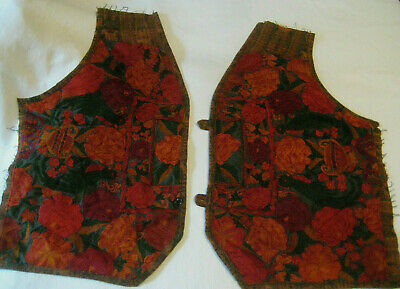 Guatemalan Embroidered pieces remnants vintage textiles panels birds floral red