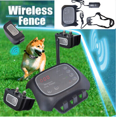 Waterproof Wireless Dog Fence Pet Containment System Transmitter Collar+Receiver