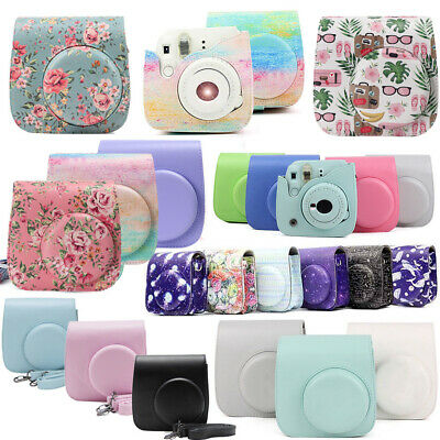 PU Leather Instant Camera Case Cover Shoulder Bag with Strap For Instax Mini 9+