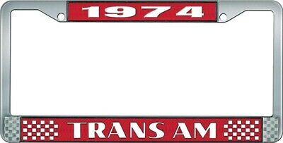 OER LF2327402C 1974 Trans Am License Plate Frame Style 2 Red